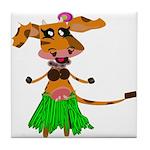 Sola the hula-hula moo-cow Tile Coaster