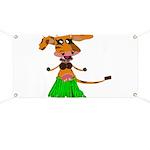 Sola the hula-hula moo-cow Banner