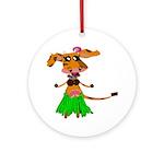 Sola the hula-hula moo-cow Ornament (Round)