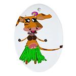 Sola the hula-hula moo-cow Ornament (Oval)