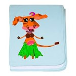 Sola the hula-hula moo-cow baby blanket