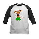 Sola the hula-hula moo-cow Kids Baseball Jersey