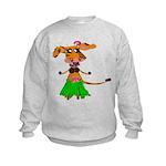 Sola the hula-hula moo-cow Kids Sweatshirt