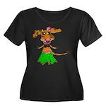 Sola the hula-hula moo-cow Women's Plus Size Scoop