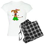 Sola the hula-hula moo-cow Women's Light Pajamas