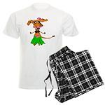 Sola the hula-hula moo-cow Men's Light Pajamas