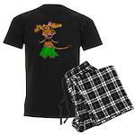 Sola the hula-hula moo-cow Men's Dark Pajamas