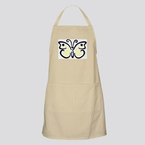 White Butterfly1 BBQ Apron