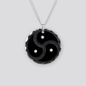 BDSM CHROME EMBLEM - SYMBOL Necklace Circle Charm