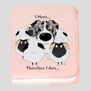 Aussie - I Herd... baby blanket
