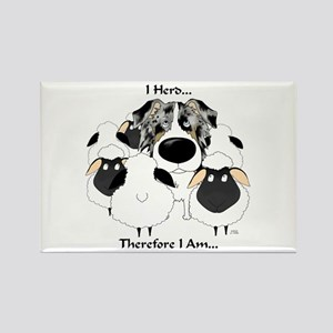 Aussie - I Herd... Rectangle Magnet