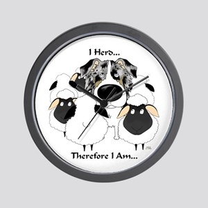 Aussie - I Herd... Wall Clock