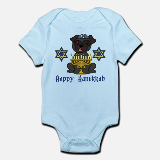 Hanukkah Pug Tees and Gifts Infant Bodysuit