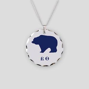 Cherokee Bear Necklace Circle Charm
