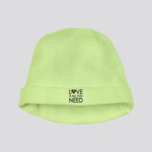 'Love Is All You Need' baby hat