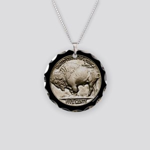 Buffalo Nickel Necklace Circle Charm