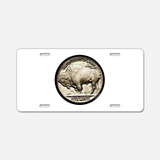 Buffalo Nickel Aluminum License Plate