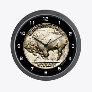 Buffalo Nickel Wall Clock