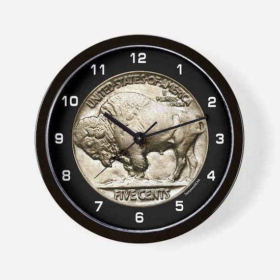 Buffalo Nickel Wall Clock