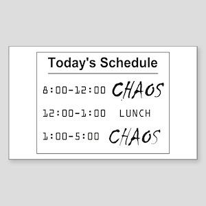 Organized Chaos Sticker (Rectangle)