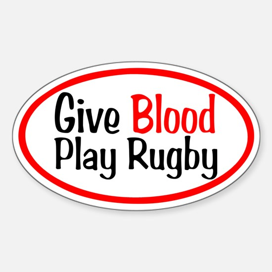 Play Rugby Sticker (Oval)