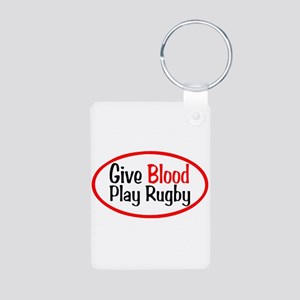 Play Rugby Aluminum Photo Keychain