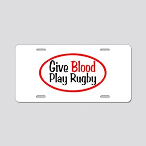 Play Rugby Aluminum License Plate