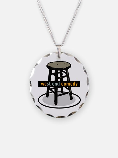 West End Comedy logo w/o webs Necklace