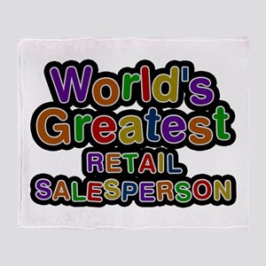 World's Greatest RETAIL SALESPERSON Throw Blanket