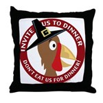 Vegan Thanksgiviing Throw Pillow