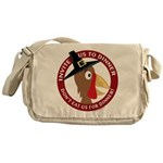 Vegan Thanksgiviing Messenger Bag