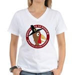 Vegan Thanksgiviing Women's V-Neck T-Shirt