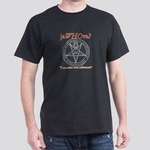 """jaWHOva?"" Black T-Shirt"
