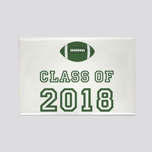 Class Of 2018 Football Rectangle Magnet
