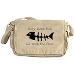 Only Dead Fish Messenger Bag