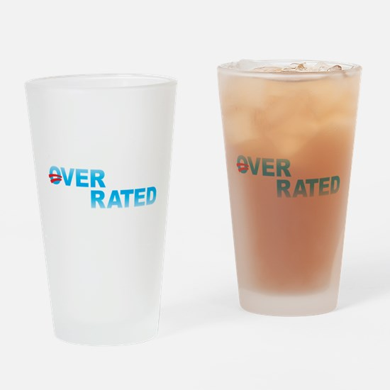 Obama Overrated Drinking Glass
