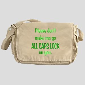 ALL CAPS LOCK Messenger Bag