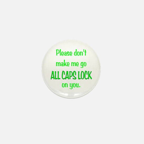 ALL CAPS LOCK Mini Button
