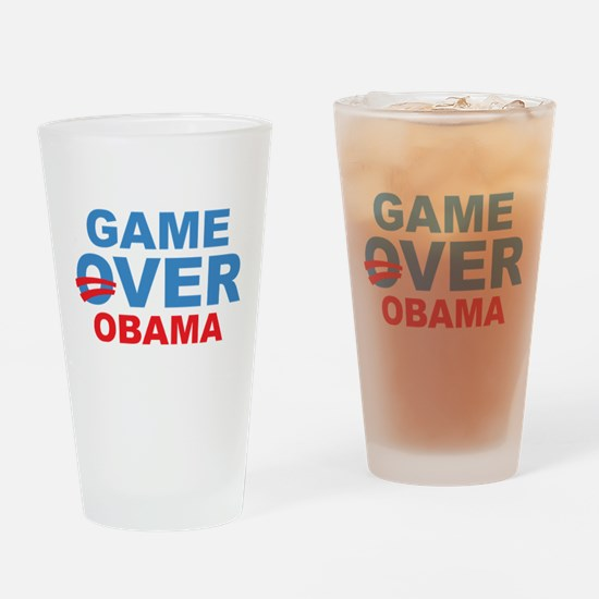 Anti Obama Game Over Drinking Glass