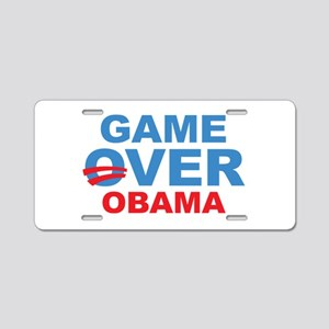 Anti Obama Game Over Aluminum License Plate