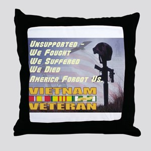 Unsupported Vet Throw Pillow