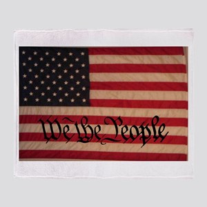 WE THE PEOPLE WITH FLAG OF FR Throw Blanket