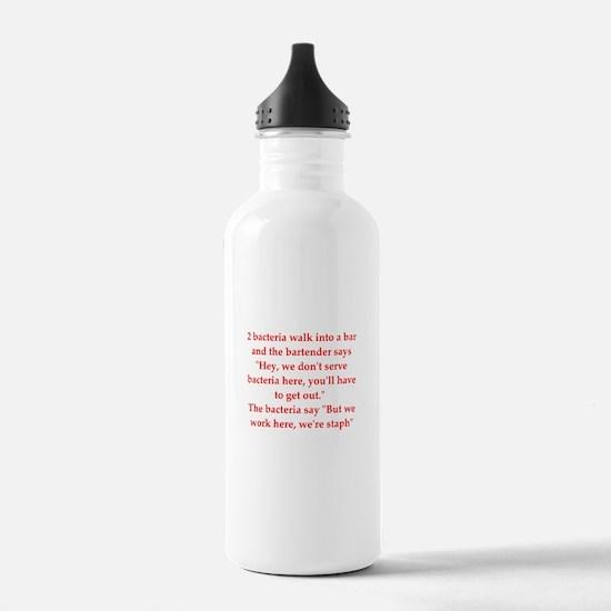 Cute Biology jokes Water Bottle
