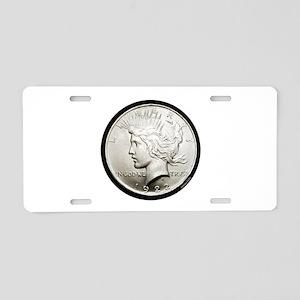 Peace Dollar Aluminum License Plate
