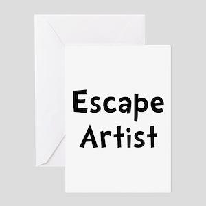 Escape Artist Greeting Card