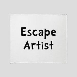 Escape Artist Throw Blanket