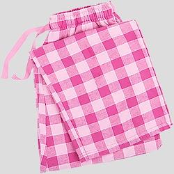 Pink Plaid Pajama Bottom