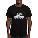 Naughty or Nice Men's Fitted T-Shirt (dark)