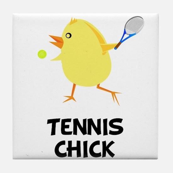 Tennis Chick Tile Coaster