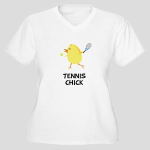 Tennis Chick Women's Plus Size V-Neck T-Shirt